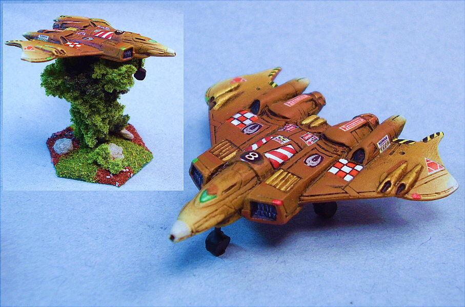 slåsstech målad Defiance Aerospace Fighter (mech skala) WG