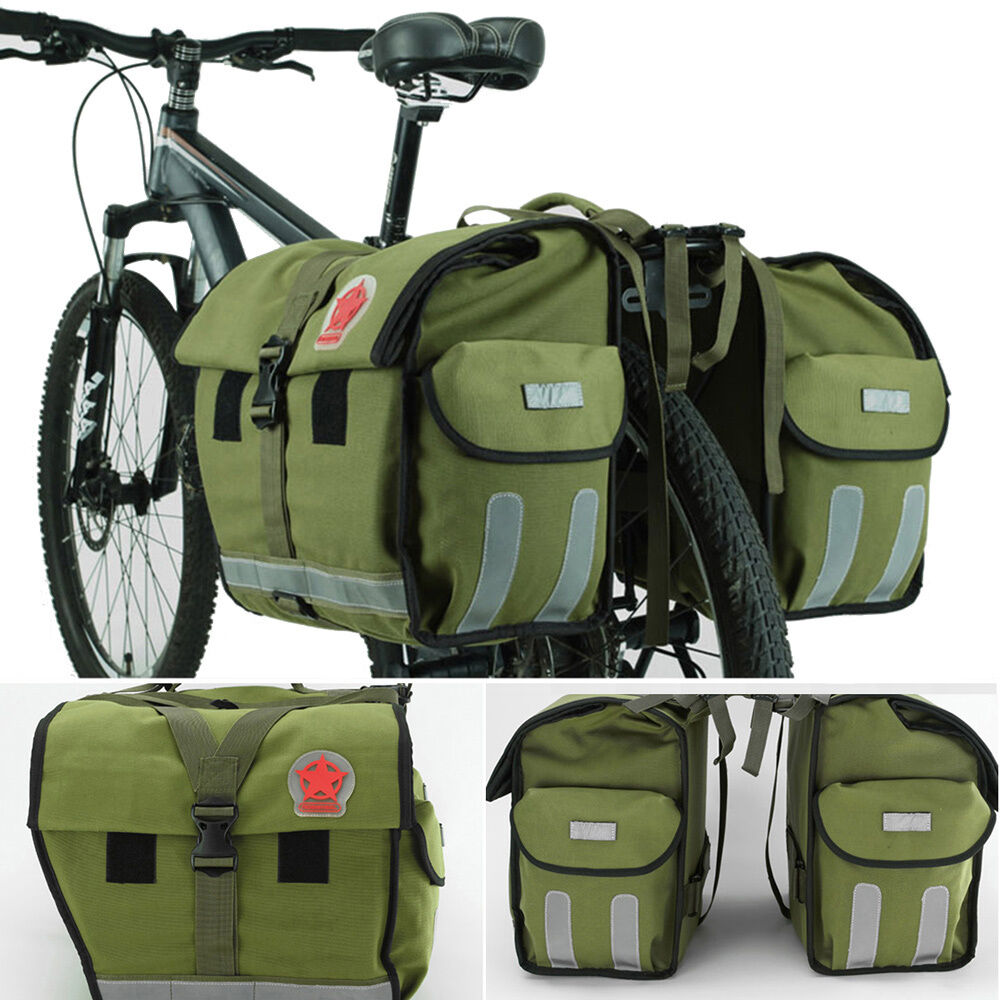 100L  Large Waterproof Bicycle Rear Seat Bag Bike Cycling Double Pannier Handbag  professional integrated online shopping mall