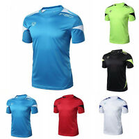 UK Solid Color Mens Sport Quick Dry Shirt Sleeve Casual Tee T-shirt size M-XXL