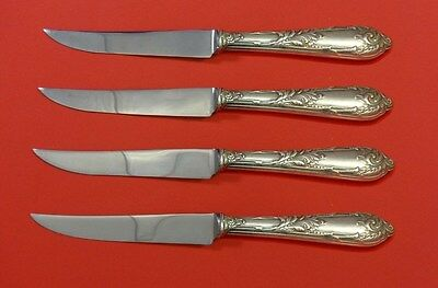 "Kind-Hearted Romaine By Reed & Barton Sterling Silver Steak Knife Set 4pc Hhws Custom 8 1/2"" Other Antique Furniture"