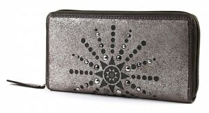 Geldbörse Braun Wallet Glamour Taupe Bruno With Metallic Silber Zip Banani Neu wXxRqqE8