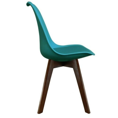 Various Leg Bases Fusion Living Eiffel Inspired Teal Plastic Dining Chair
