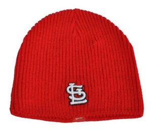 New Era St Louis Cardinals Beanie Hat MLB Red Woolly Adults Mens Ladies BH4000