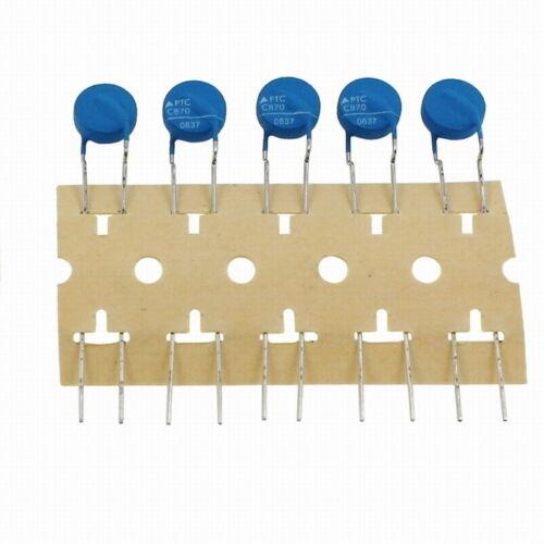5x PTC Kaltleiter Thermistor 25R 120°C ; RM5 d8x4 ; Epcos B59870C0120A070