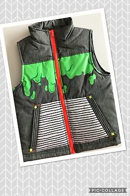 Details about  /NWT CAT /& JACK Boy/'s Halloween Green Slime Gray Puffer Vest Full Zip XS S M L XL