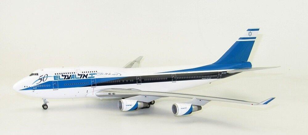 Si 744 Elal 50 1/200 El Al Israel Airlines B747-400 4X-ELB - 50 Piezas-Incluye Soporte