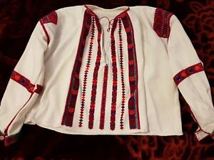 Romanian Vintage Hand Embroidered Blouse Embroidered Hand Vintage qFprwnPqA