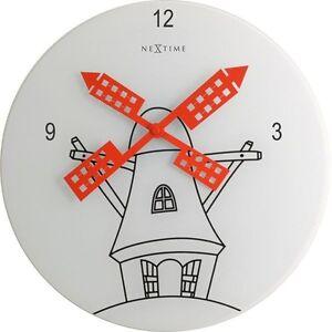 Horloge-murale-de-cuisine-Montre-CONCEPTION-VERRE-Cadran-Analogue-30-cm-blanc