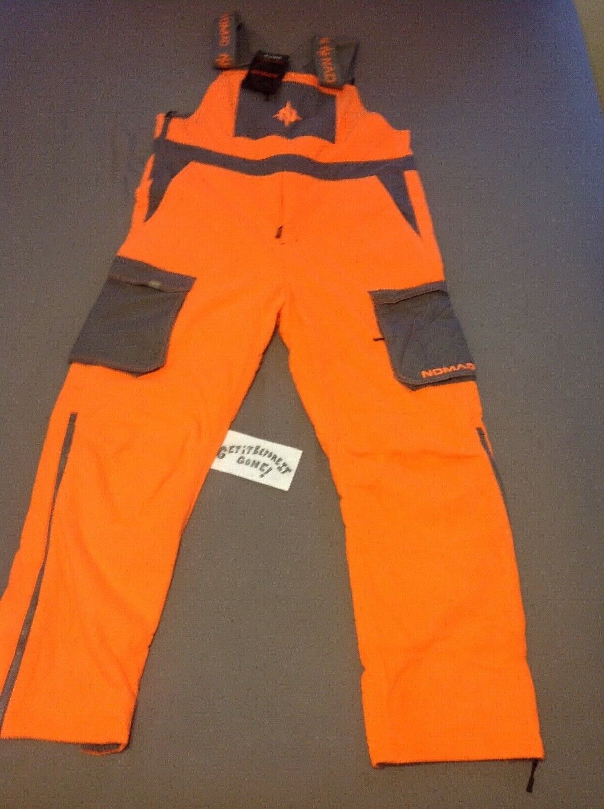 (SZ L) Nomad Harvestor Bib (orange)