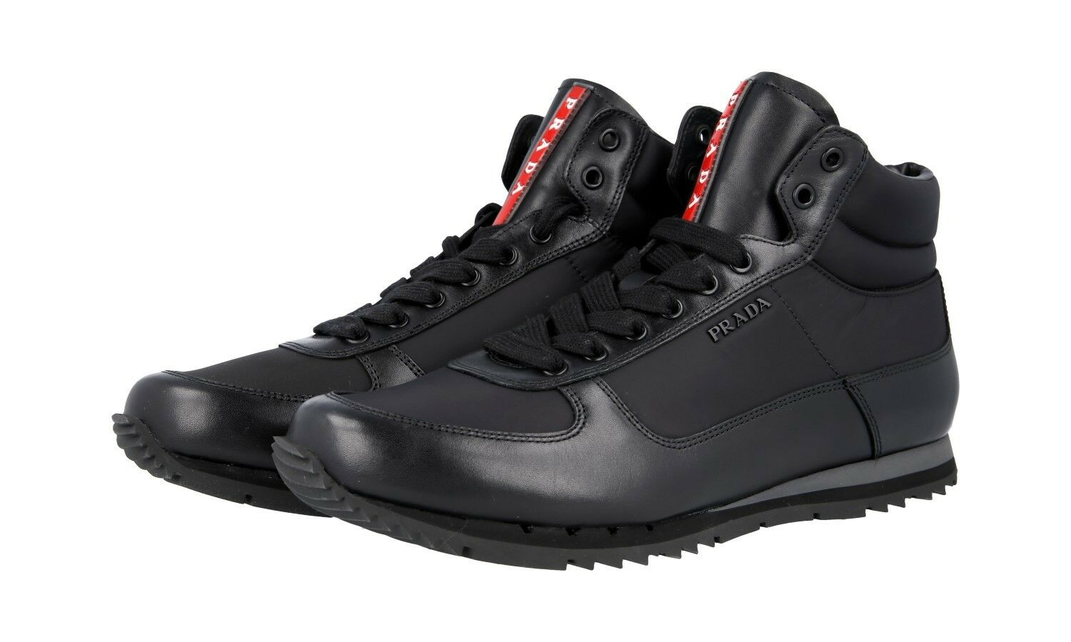 shoes HIGH-TOP SNEAKER PRADA LUSSO 4T2782 black NUOVE 9 43 43,5
