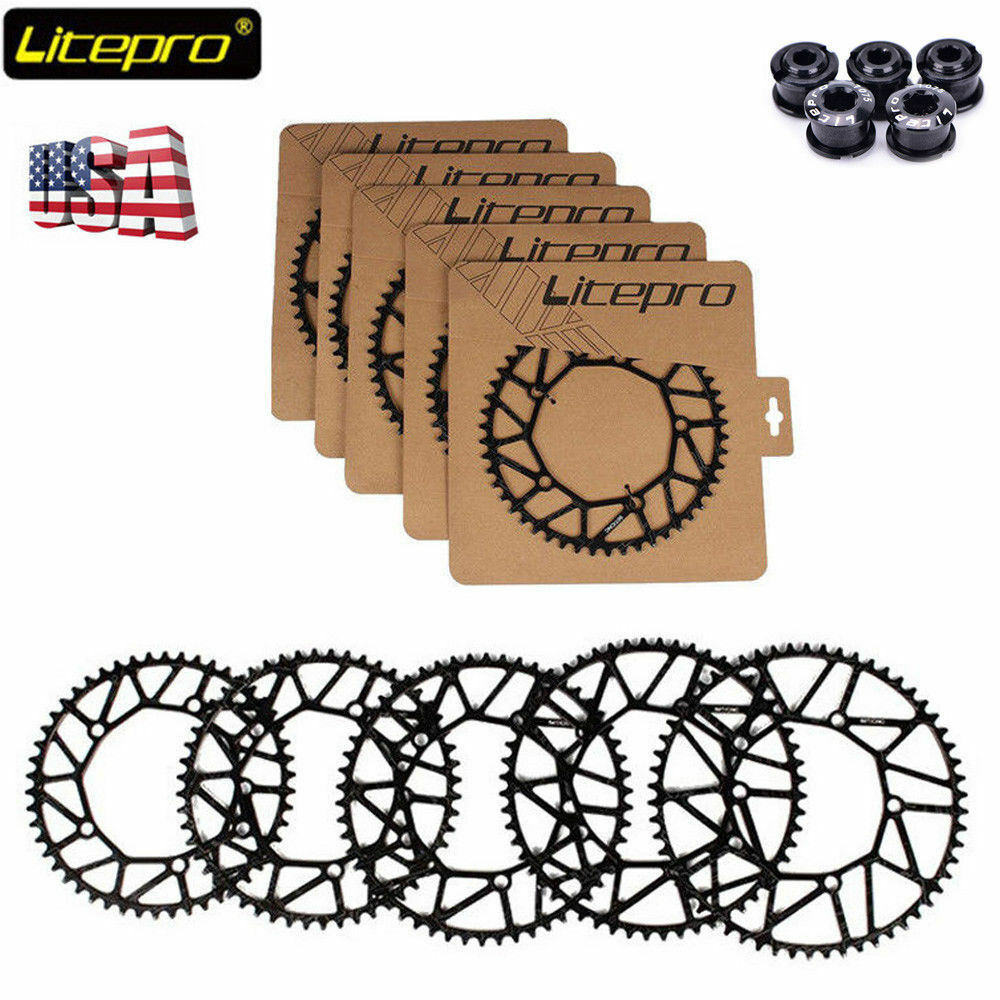 Litepro Hollow Bike Chainring BCD130mm 50 52 54 56 58T Bicycle Chain Ring Bolts
