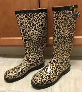 Cheetah Rain Boots