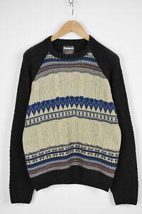 DESIGUAL-STYLE-57J11A3-Men-MEDIUM-JERS-Patch-Stripe-Wool-Blend-Sweater-28275-JS