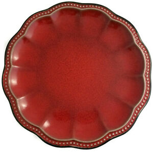 Roscher Hobnail Red Collection Dinner Plate 11\