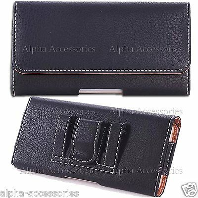 Leather Case Cover Pouch Holster Bag With Belt Clip For Samsung Galaxy S6 & Edge