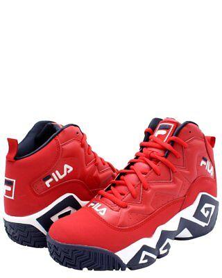 Hommes Fila Classique Édition Limitée Rouge Marine Jamal Mashburn MB Basket | eBay