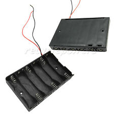 1 x 6 Standard AA (1X6) 14500 Cells Battery Clip Holder Box Case With Wire Lead