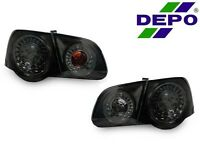 Depo 06-10 Volkswagen Passat B6 4 Piece All Smoked Rear Led Tail Lights Pair Vw