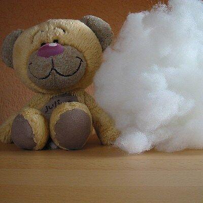 1000g hochbauschige Füllwatte Bastelwatte Stopfwatte Watte Kissenfüllung Teddys