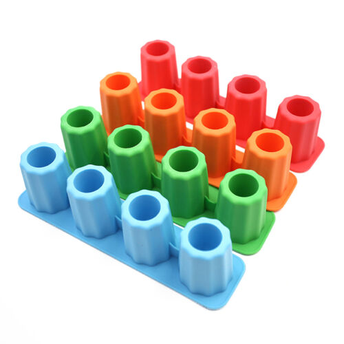 Silicone 4-Cup Shaped Ice Cube Shot Glass Freeze Mold Maker Tray Bar HC