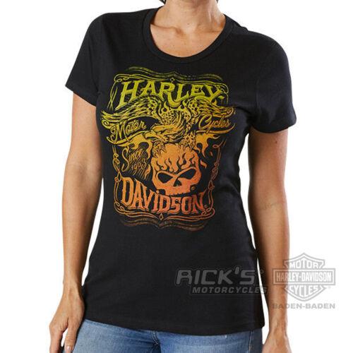 """Ricks Harley Davidson  Dealer Damen  Shirt  /""""Misty Eagle/""""   5J27-HG3G"""