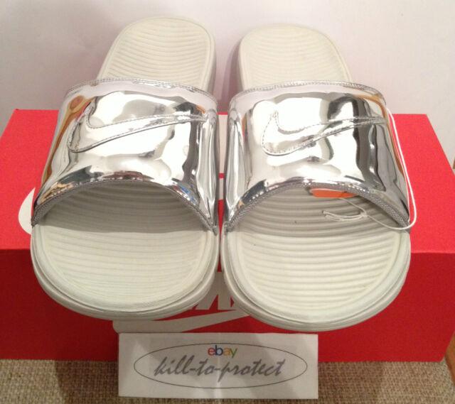 02d264d25fe0 Nike Benassi Solarsoft Slide Liquid Metal Silver Us6 Uk5.5 SP 696116-002 TZ  2014 for sale online