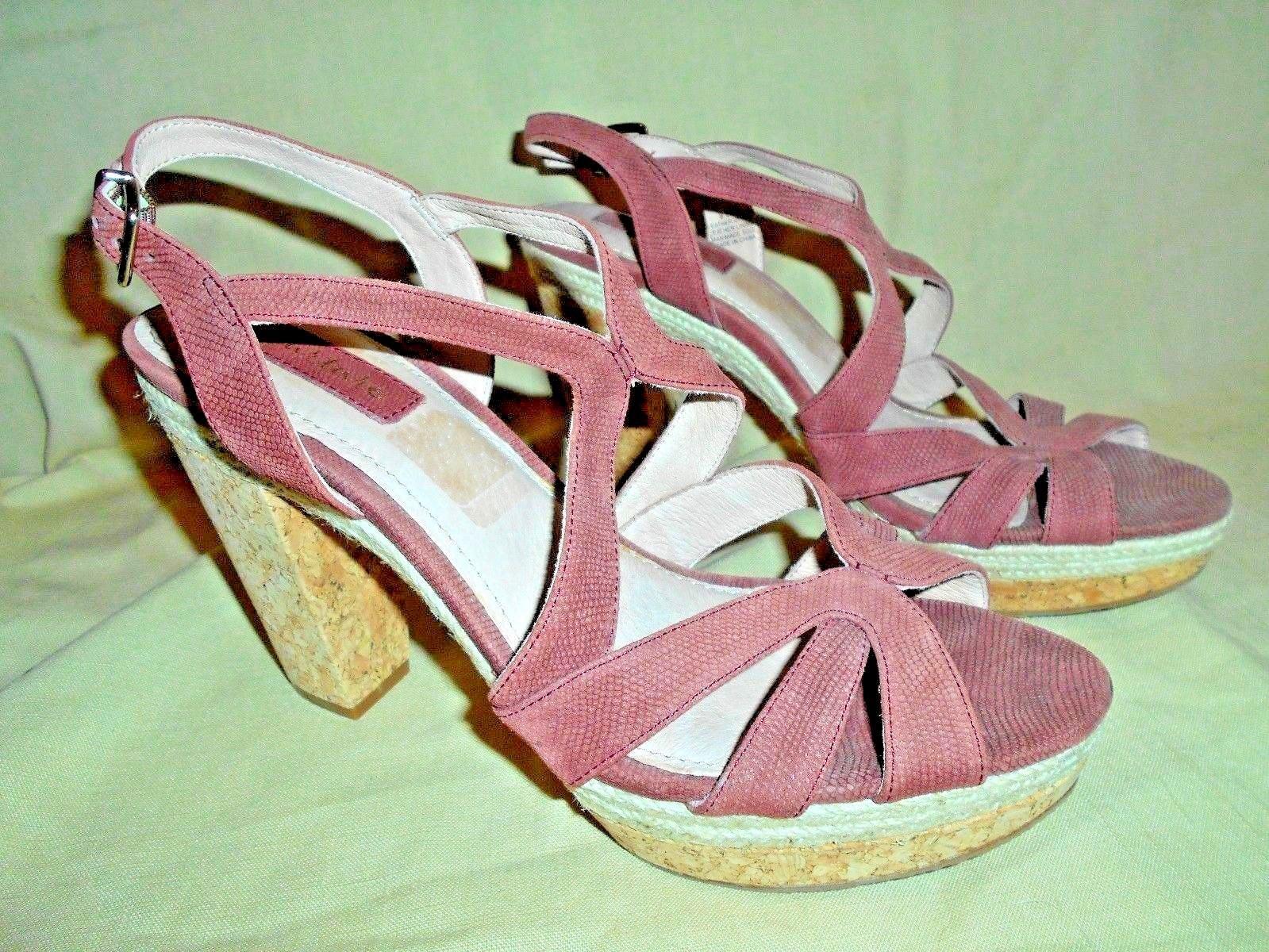 NURTURE ladies rust color platform high heel cork sandals 8.5M NWOB