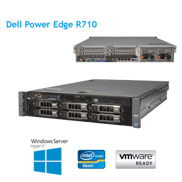 Dell PowerEdge R710 LFF Server 2x X5650 2.66GHz 12 Cores 32GB 2x 146GB 15K