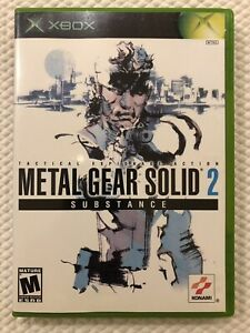 Metal-Gear-Solid-2-Substance-Microsoft-Xbox-Complete-w-Case-amp-Manual