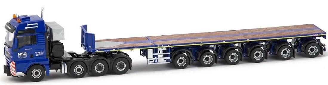 IMC31-0027 - Camion 8x4 MAN TGX aux couleurs MSG et remorque NOOTEBOOM 6 essieux