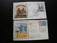 FRANCE - 2 enveloppes 1er jour 1977/78 (tennis de table/carroussel) (cy96)french