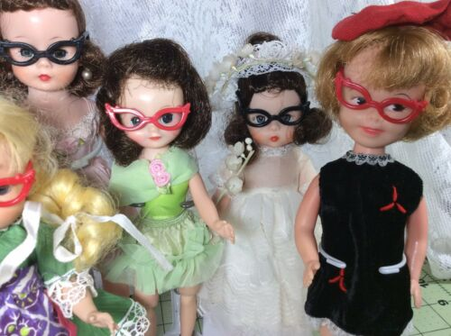 Madame Alexander Cute Eyeglasses For Small Dolls Betsy McCall 3 Pair Muffie