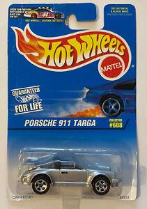 1997-HOTWHEELS-PORSCHE-911-TARGA-D-039-ARGENTO-Nuovo-di-zecca-MOC-molto-rara