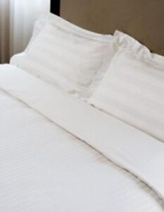 3x-King-Bed-Size-Flat-Sheet-White-Striped-2cm-Top-Hem-5-Hotel-Grade-285x300cm