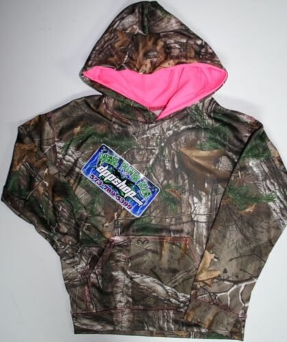 L YOUTH real mossy oak tree Kid pullover hooded sweater camo sweatshirt hoodie
