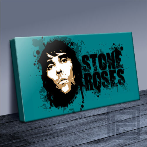 STONE ROSES IAN BROWN AWESOME MODERN GRUNGE ICONIC CANVAS ART PRINT Art Williams