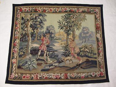 Alter Großer Französischer Gobelin Wandteppich Aubusson Tapestry/ Handarbeit Top Vertrieb Von QualitäTssicherung