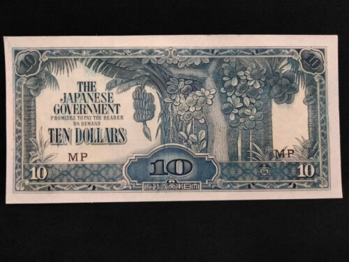 WWII Japanese Malaya Invasion Banknote **CRISP UNCIRCULATED**