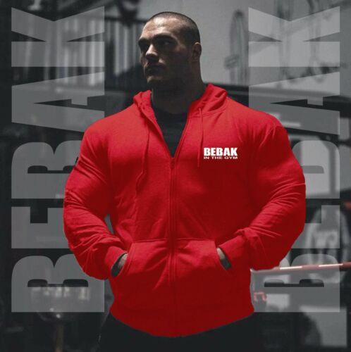 Men/'s Gym Hoodie Bodybuilding Zipper Workout Clothing Sweatshirt BEBAK S-4XL