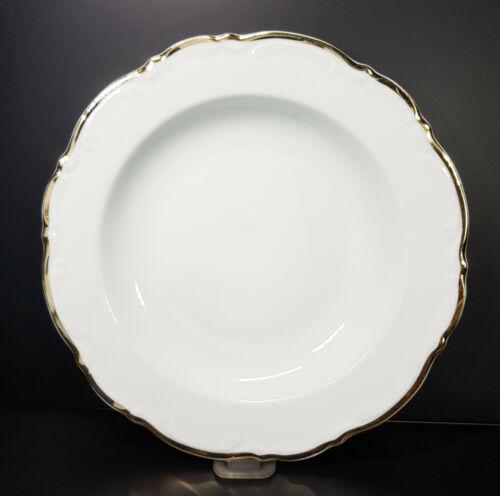 Suppenteller Mitterteich Form 2000 Weiß Goldrand Porzellan D 23 cm Neuwertig