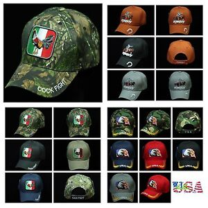 7d45a24e9794c Baseball Cap US Flag Eagle Caps Rooster Cowboy Hat Camo Army Rooster ...