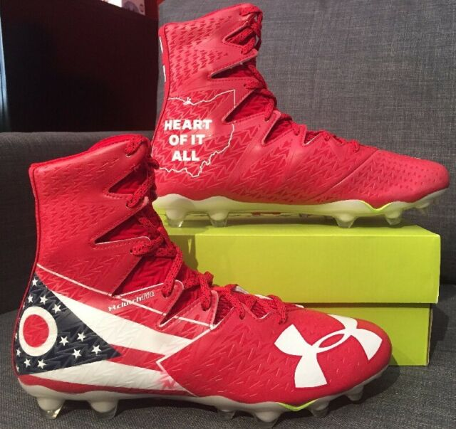 da86ed51d424 Under Armour Highlight MC LE Ohio Football Cleats Red White 1275479-611 Size  13