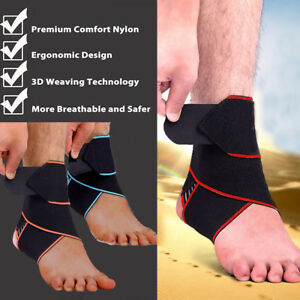 7310c6510b Image is loading Ankle-Support-Compression-Strap-Achilles-Tendon-Brace-Foot-