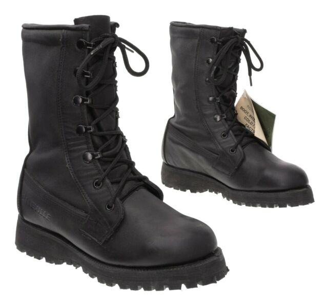 Cold Weather Combat Boots 3 W Mens Gore-Tex Black Leather Hiking Boots Military
