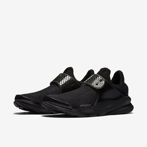 nike men's sock dart trainers black/volt