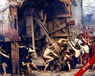 CAPTIVES IN ROME BARTLETT 8X10 ROMAN SOLDIER PAINTING REAL CANVAS GICLEE PRINT