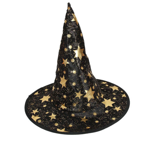 2pcs Kids Wizard Witch/'s High Pointed Hat Halloween Fancy Dress Costume Prop