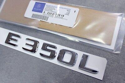 CHROME BENZ E300 REAR TRUNK LETTERS BADGE EMBLEM FOR MERCEDES BENZ E-CLASS