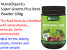 300g Nutra Organics SUPER GREENS & REDS Phyto Nutrients SUPER FOOD POWDER
