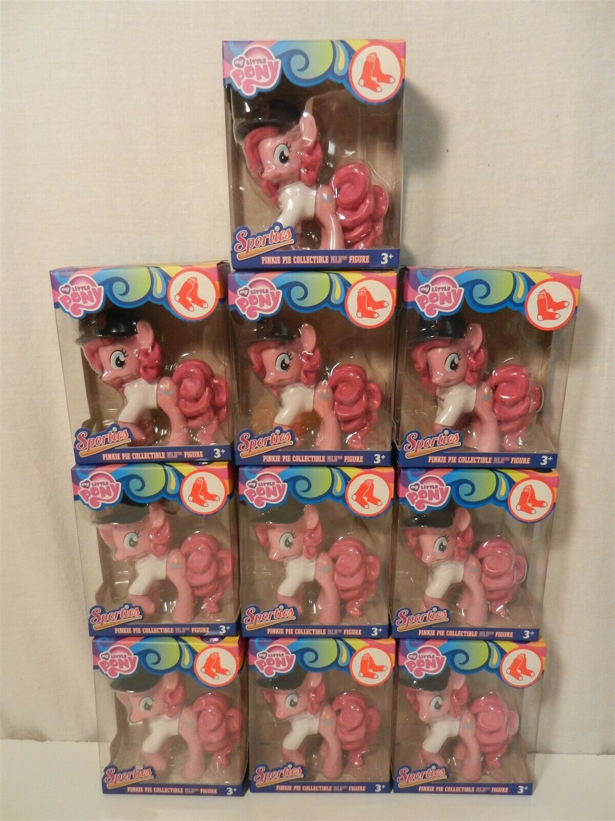 Lot of 10 My Little Pony Pinkie Pinkie Pinkie Pie Sporties MLB Boston Red Sox SDCC Exclusive c04938